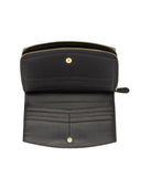 VENIZIA - Envelop & Zip Around 2-IN-1 Organizer Continental Wallet - Black