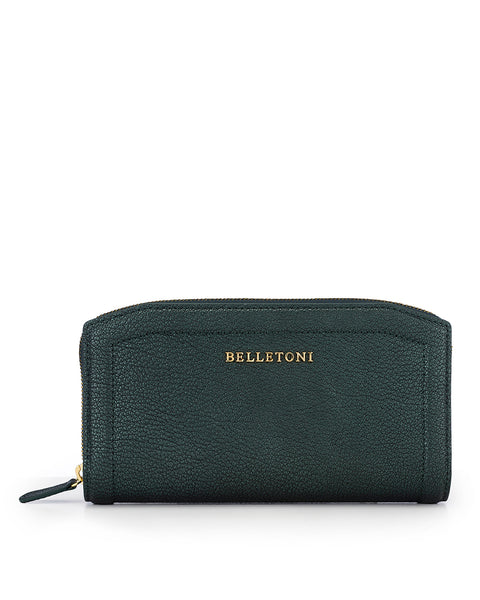 SICILIA - Envelop & Zip Around 2-IN-1 Organizer Continental Wallet - Green