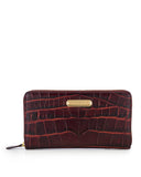 SORRENTO - Multi-Gusset Zip Around Continental Wallet - Burgundy