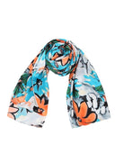 "Large Wrap Around Pure Silk Scarf L78"" x W44"""
