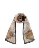 "Long Pure Silk Chiffon Scarf L61"" x W19"""