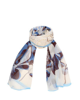"Long Pure Silk Chiffon Scarf L70"" x W22"""