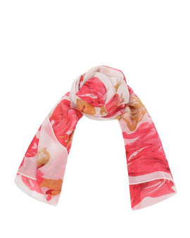 "Long Pure Silk Chiffon Scarf L68"" x W21"""