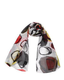 "Long Pure Silk Chiffon Scarf L75"" x W26"""