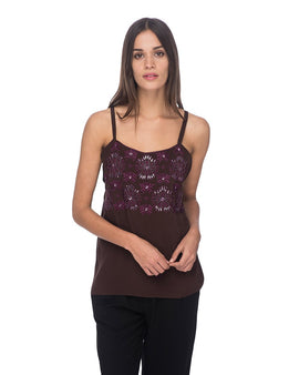 SCT014 - Hand Embroidered Tank Top