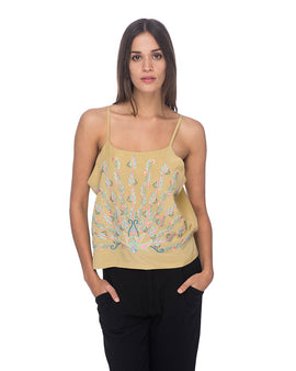 SCT017 - Hand Embroidered Tank Top