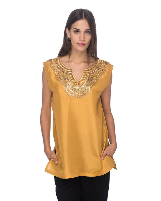 SCT018 - Hand Embroidered Silk Tunic
