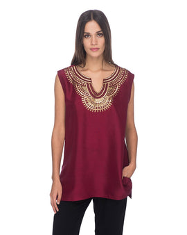 SCT019 - Hand Embroidered Silk Tunic