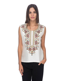 SCT021 - Hand Embroidered Silk Blouse