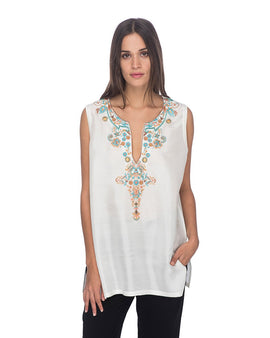SCT022 - Hand Embroidered Silk Tunic
