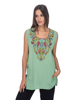 SCT023 - Hand Embroidered Silk Tunic
