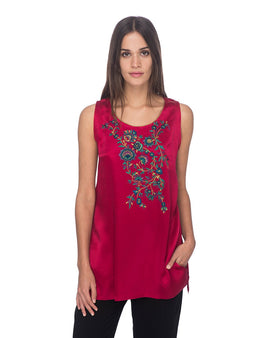 SCT025 - Hand Embroidered Silk Tunic
