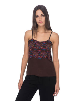 SCT026 - Hand Embroidered Tank Top
