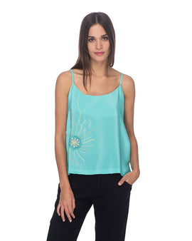 SCT027 - Hand Embroidered Tank Top