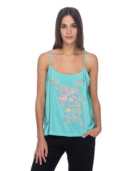 SCT031 - Hand Embroidered Silk Tank Top