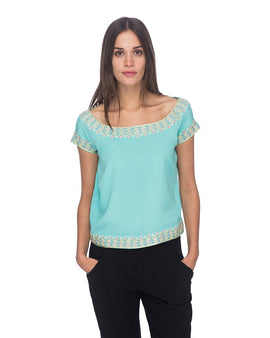 SCT055 - Hand Embroidered Silk Blouse