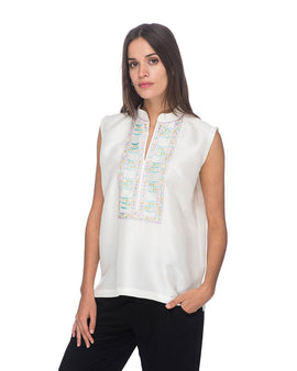SCT058 - Hand Embroidered Short Tunic