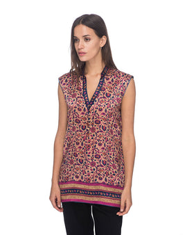 SCT059 - Block Printed Silk Tunic
