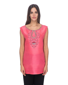SCT062 - Hand Embroidered Silk Tunic