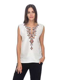 SCT063 - Hand Embroidered Silk Tunic