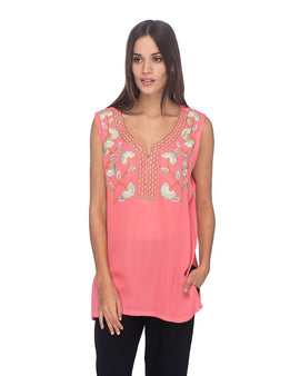 SCT065 - Hand Embroidered Silk Tunic