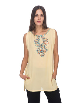 SCT067 - Hand Embroidered Silk Tunic