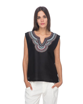SCT083 - Hand Embroidered Silk Blouse