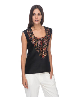 SCT090 - Hand Embroidered Silk Blouse