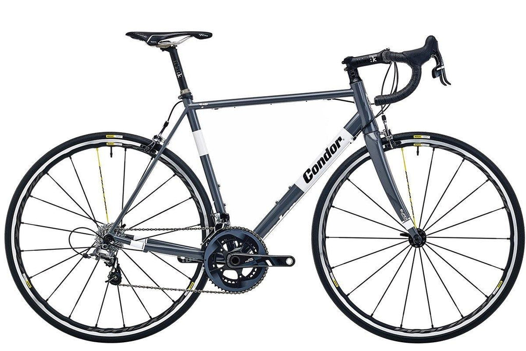Condor Super Acciaio Steel Frameset - Grey/White