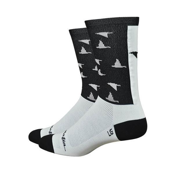 Pedal Mafia The Birds White 6 Inch Sock