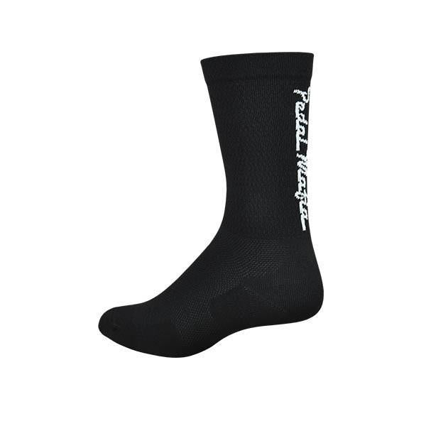 Pedal Mafia Black & White Tech Mesh Sock