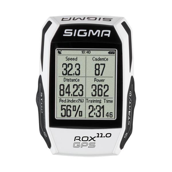 Sigma ROX GPS 11.0 Cycling Computer (Include HR/Speed/Cadence Sensor) - White