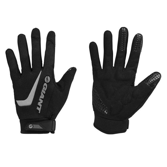 Giant Horizon Long Finger Gloves - Black