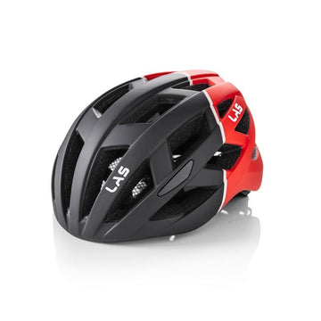 LAS Enigma Helmet - Matt Black/Red - SpinWarriors