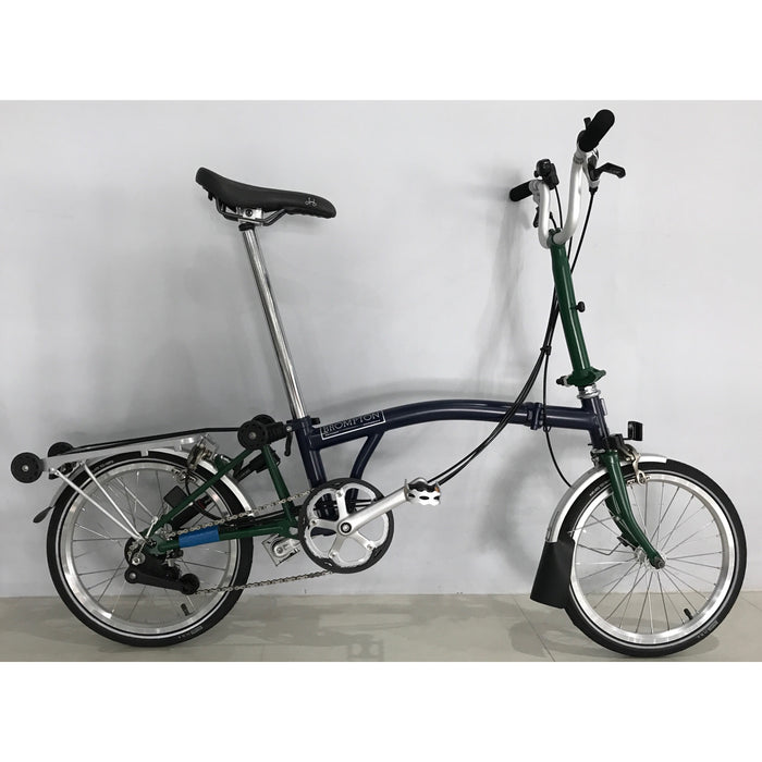 Brompton M6R - Tempest Blue/Racing Green