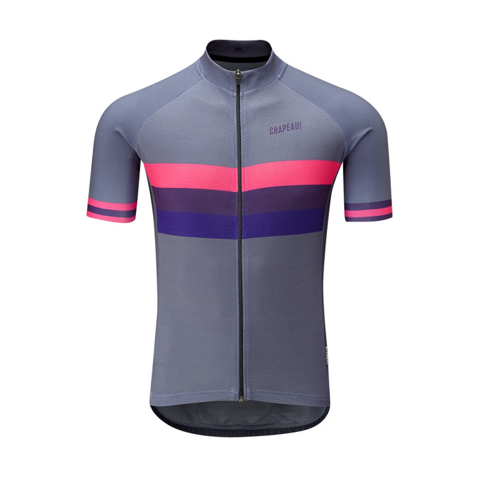 Chapeau! Club Stripe Jersey - Carbon Grey