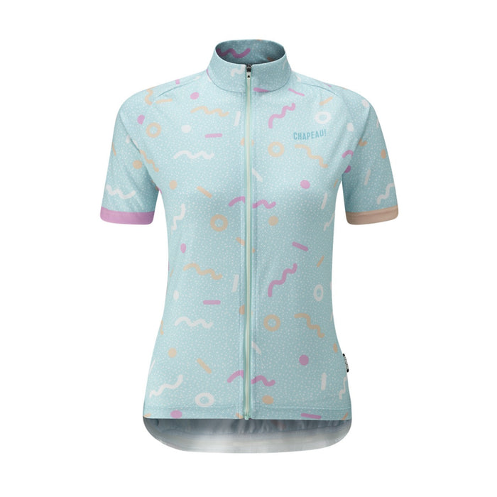 Chapeau! Soulor Woman Pattern Mix Jersey - Surf Blue