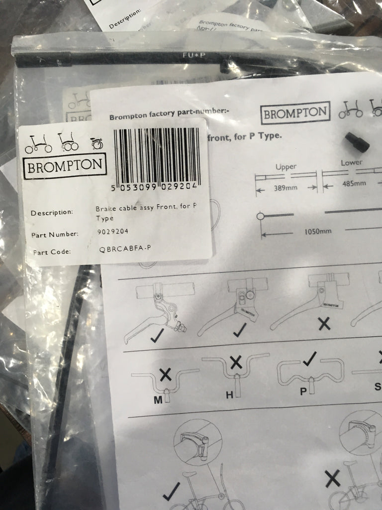 Brompton P Type Front Brake Cable