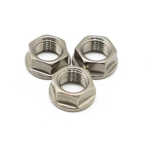 NovDesign Rear Axle 2 Speed Titanium Nuts - Silver