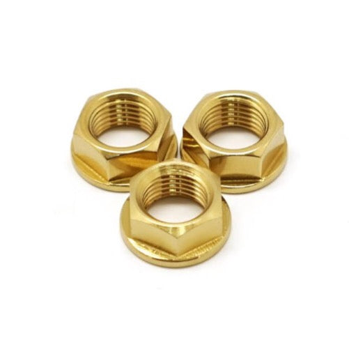 NovDesign Rear Axle 2 Speed Titanium Nuts - Gold