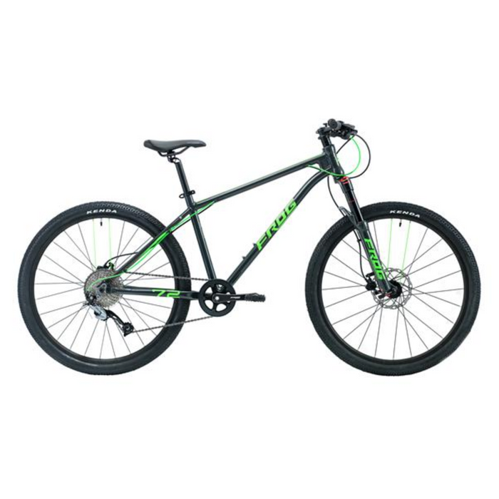Frog MTB 72 Kids Bike - Metallic Grey/Neon Green