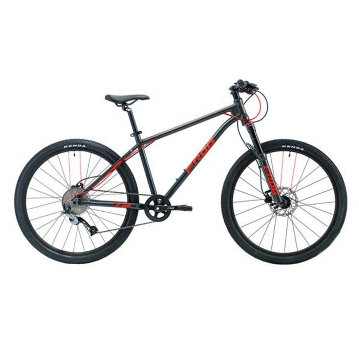 Frog MTB 72 Kids Bike - Metallic Grey/Neon Red