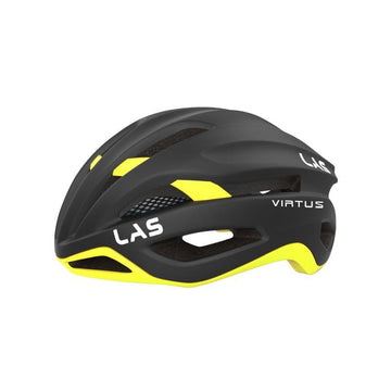 LAS Virtus Helmet - Matt Black/Yellow - SpinWarriors