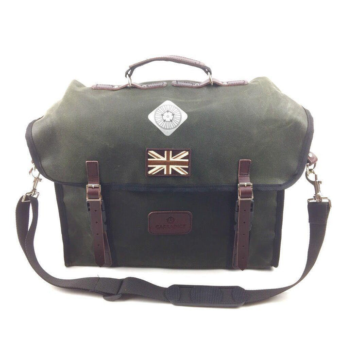 Carradice City Folder M Bag - Limited Edition Green Union Jack