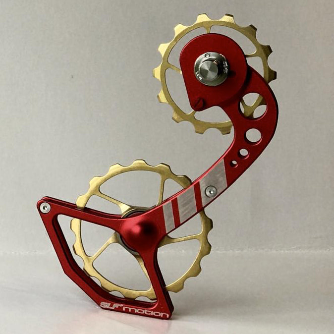 SLF Motion Hyper Speed System for New Shimano - Red Cage/Gold Wheel