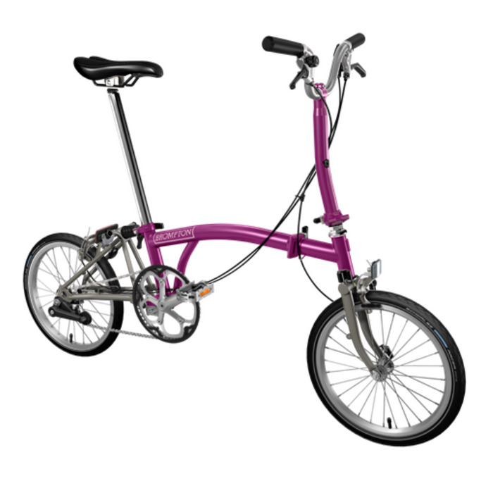 Brompton M2E 2018 - Berry Crush/Titanium