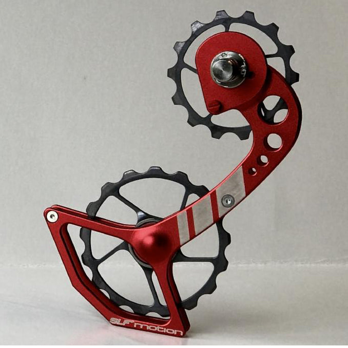 SLF Motion Hyper Speed System for New Shimano - Red Cage/Gunmetal Grey Wheel