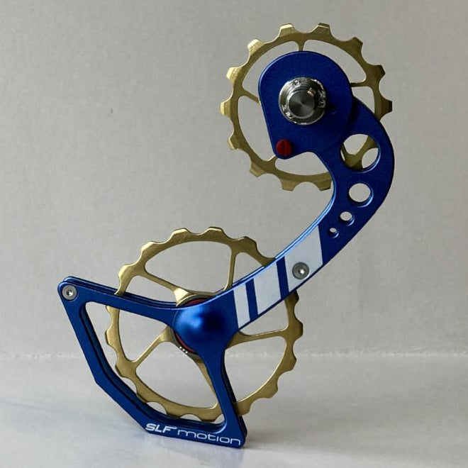 SLF Motion Hyper Speed System for New Shimano - Blue Cage/Gold Wheel