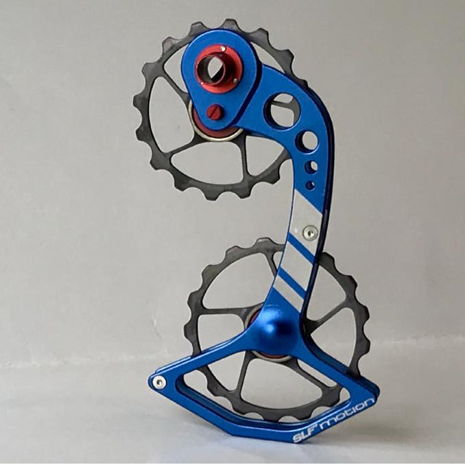SLF Motion Hyper Speed System for Old Shimano - Blue Cage/Gunmetal Grey Wheel