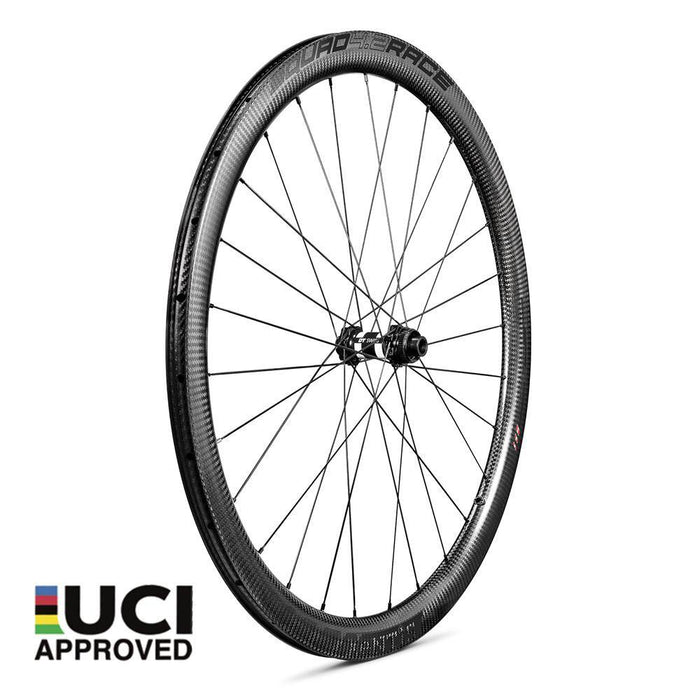 Xentis Squad 4.2 Race Tubeless Ready Carbon Clincher Disc Brake Wheelset - Black Decal